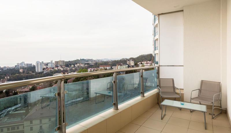 Квартира посуточно в центре Сочи с видом на море